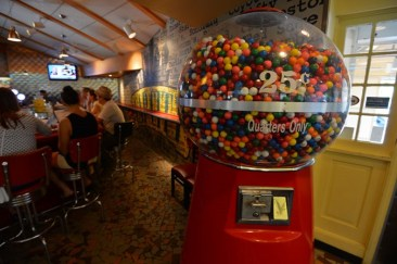 The giant gum ball machine. Credit: Cap City Fine Diner and Bar