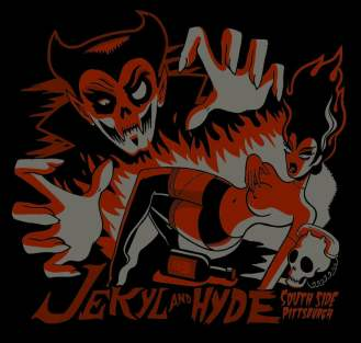 Jekyl & Hyde has sold T-shirts with designs like this.