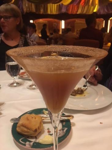 A cinnamon cocktail at Le Cirque