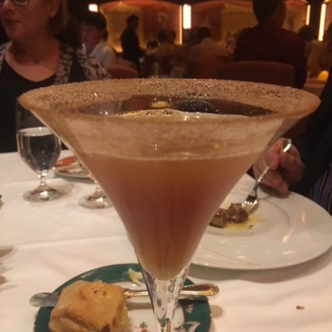 A cinnamon cocktail at Le Cirque