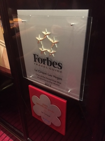 Forbes rates Le Cirque as one of the finest five star restaurants in the world while Michelein shows it some love as well