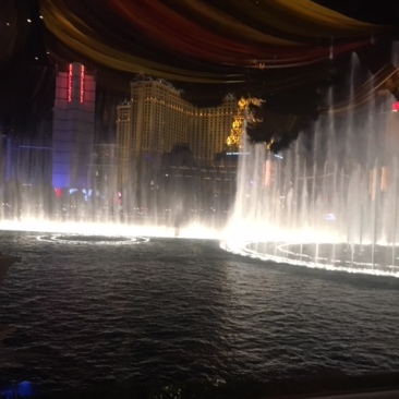The famous Fountains of Bellagio